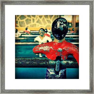 Table Soccer Framed Print by Contemporary Art
