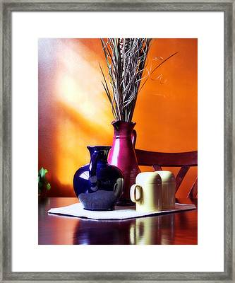 Tabletop Framed Print by Peter Chilelli