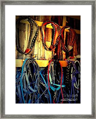 Tack Room Framed Print by Christine Zipps