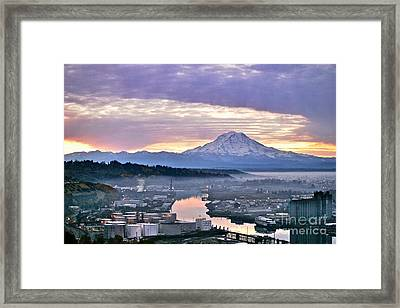 Tacoma Dawn Framed Print by Sean Griffin