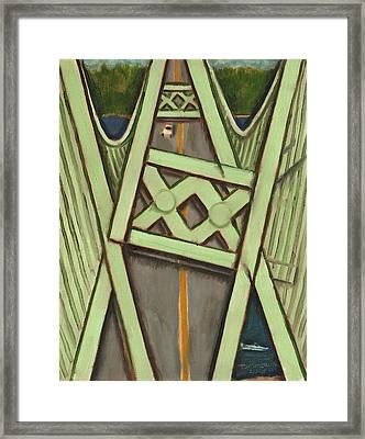 Tacoma Narrows Bridge Collapse  Framed Print by Tommervik