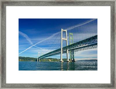Tacoma Narrows Bridge Framed Print by Sean Griffin