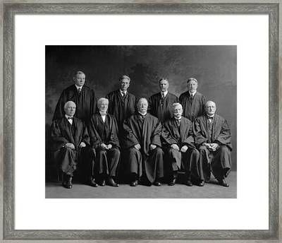 Taft Court. United States Supreme Court Framed Print by Everett