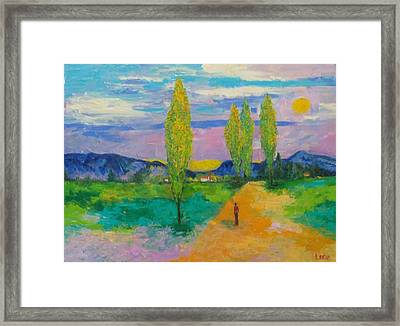 Tahitian Walk Way  Framed Print by Lore Rossi