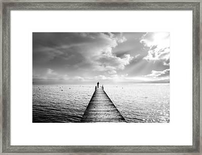Tahoe Light Framed Print by Leland D Howard
