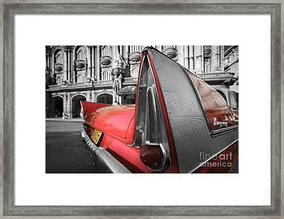 Tail Fin - Havana - Cuba Framed Print by Rod McLean