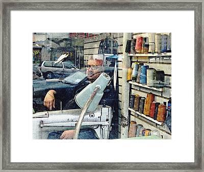 Tailor Shop Framed Print by Sarah Loft