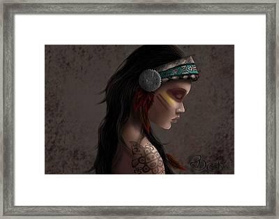 Taina Framed Print by Keila Berrios