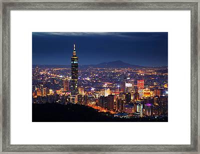 Taipei City And Taipei Framed Print by Jhhuang