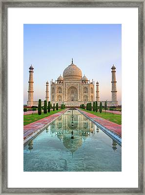 Taj Mahal, Agra Framed Print by Pushp Deep Pandey / 2kPhotography