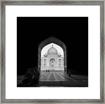 Taj Mahal Framed Print by Basem Al-qasim