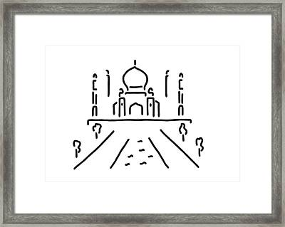 taj mahal India agra Framed Print by Lineamentum