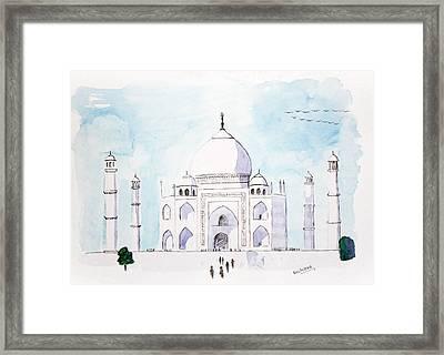 Taj Mahal Framed Print by Keshava Shukla