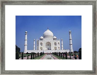 Taj Mahal Landscape Framed Print by Gloria & Richard Maschmeyer - Printscapes