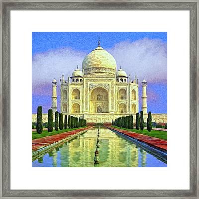 Taj Mahal Morning Framed Print by Dominic Piperata