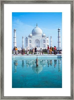Taj Mahal  Framed Print by Nila Newsom