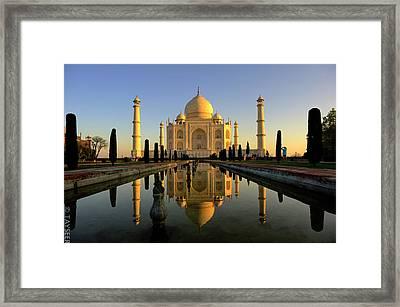Taj Mahal Framed Print by Tayseer AL-Hamad
