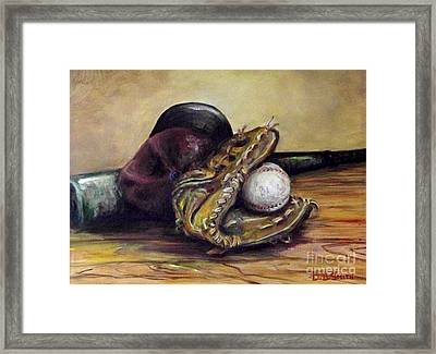 Take Me Out To The Ball Game Framed Print by Deborah Smith