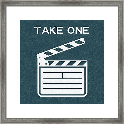 Take One- Art By Linda Woods Framed Print by Linda Woods