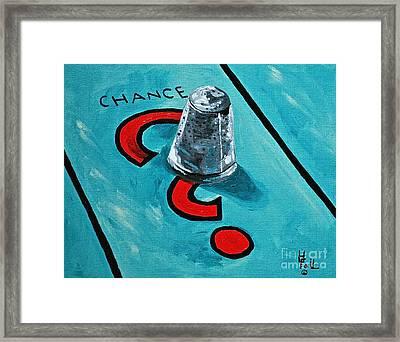 Taking A Chance Framed Print by Herschel Fall