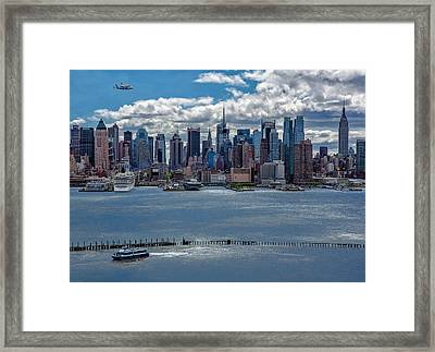 Taking A Free Ride Framed Print by Susan Candelario