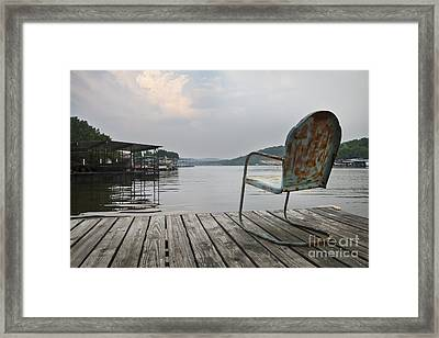 Taking It Easy At The Lake Framed Print by Dennis Hedberg
