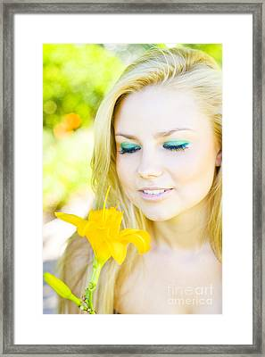 Taking Time To Smell The Flowers Framed Print by Jorgo Photography - Wall Art Gallery