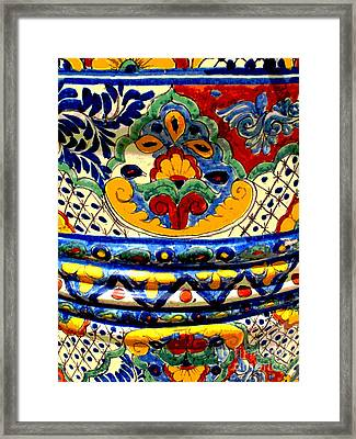 Talavera By Darian Day Framed Print by Mexicolors Art Photography