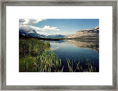 Talbot Lake Framed Print by Shirley Sirois