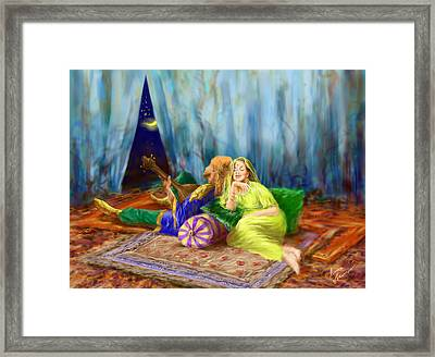 Tales On The Carpet Framed Print by Misha Lapitskiy