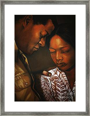 Talk To Me Baby Framed Print by Curtis James