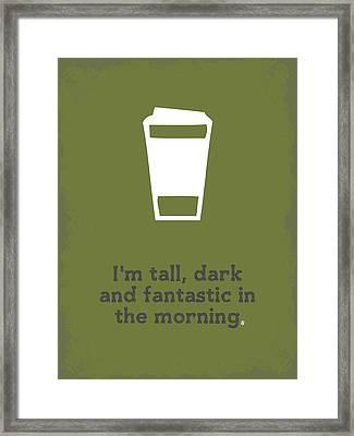 Tall And Dark Morning Framed Print by Nancy Ingersoll