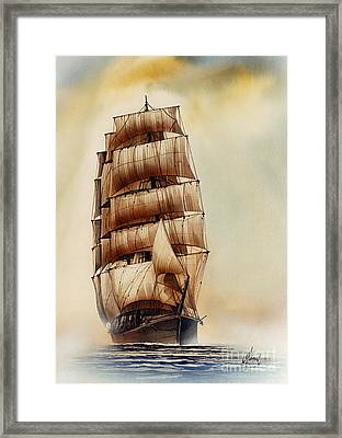 Tall Ship Carradale Framed Print by James Williamson