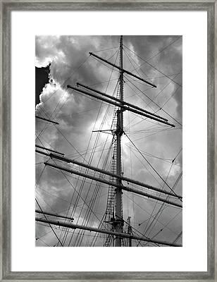 Tall Ship Masts Framed Print by Robert Ullmann