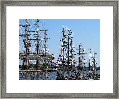 Tall Ship Series 9 Framed Print by Scott Hovind