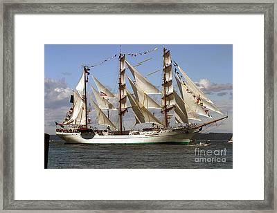 Tall Ship Framed Print by Robert  Torkomian