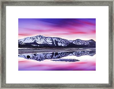 Tallac Reflections, Lake Tahoe Framed Print by Brad Scott