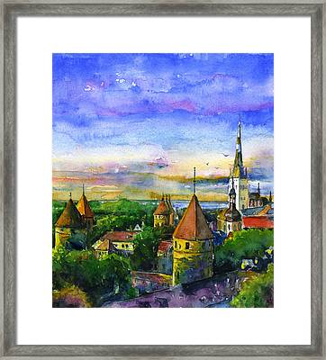 Tallinn Estonia Framed Print by John D Benson