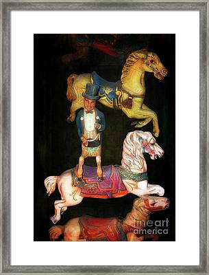 Tame Your Wild Ponies Framed Print by Mary Machare