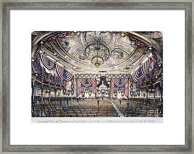 Tammany Hall, Nyc Framed Print by Granger