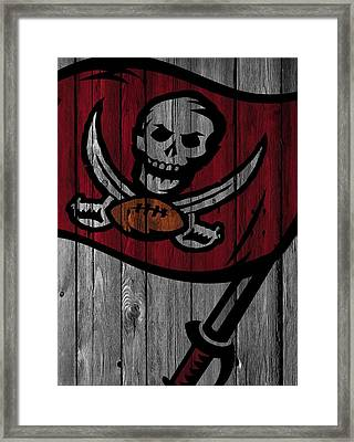 Tampa Bay Buccaneers Wood Fence Framed Print by Joe Hamilton