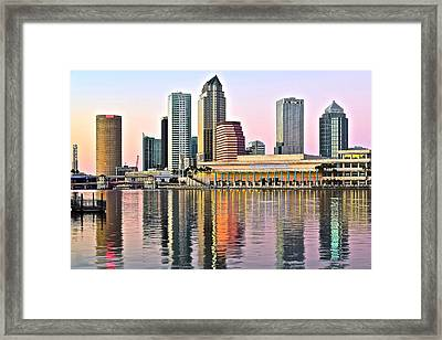 Tampa In Vivid Color Framed Print by Frozen in Time Fine Art Photography