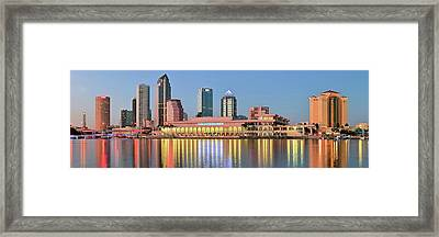 Tampa Panoramic View Framed Print by Frozen in Time Fine Art Photography