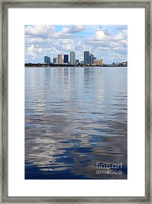 Tampa Skyline Over The Bay Framed Print by Carol Groenen