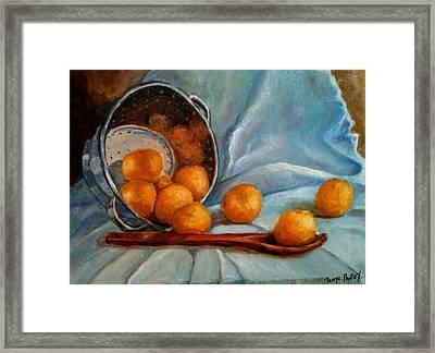 Tangerine Family Portrait Framed Print by Terrye Philley