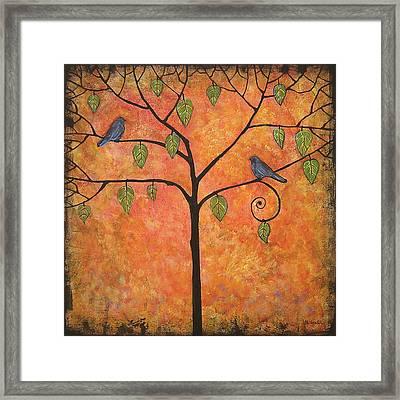 Tangerine Sky Framed Print by Blenda Studio