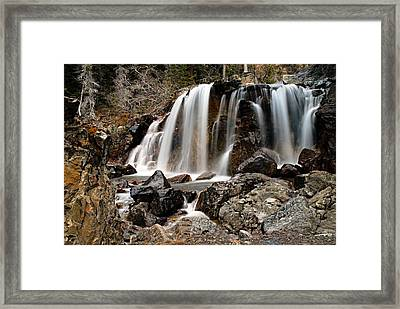 Tangle Falls Closeup 5 Framed Print by Larry Ricker