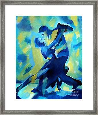 Tango Dancers Framed Print by Helena Wierzbicki