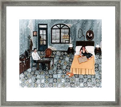 Tango For A Gray Afternoon Framed Print by Graciela Bello