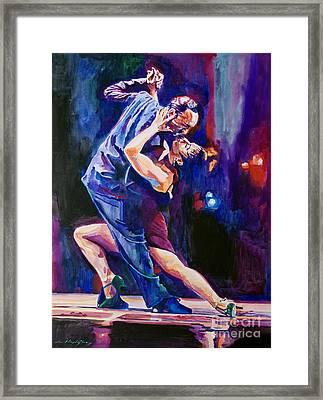 Tango Romantico Framed Print by David Lloyd Glover